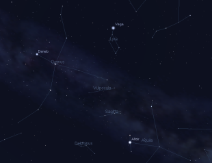 The stars of the Summer Triangle asterism