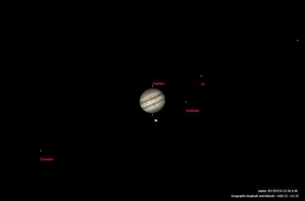 July - Jupiter Moon