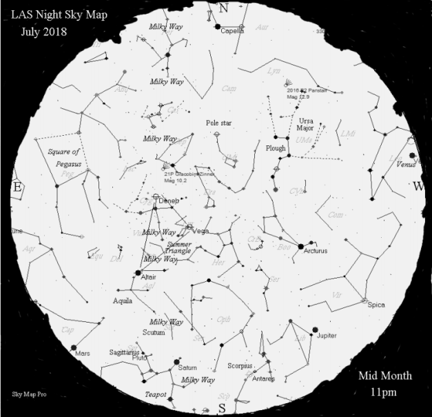 Night Sky Map - July 2018