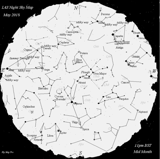 Night Sky Map - May 2018