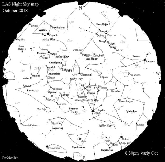 Sky Map - Oct 18