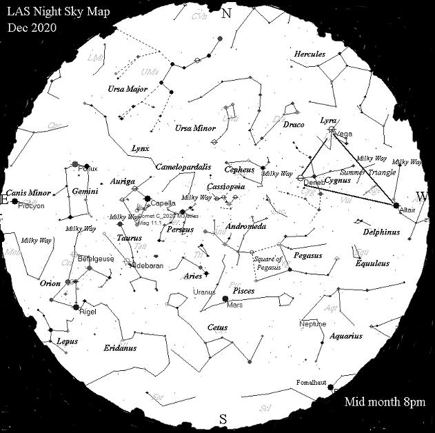Night Sky Map - Dec 2020