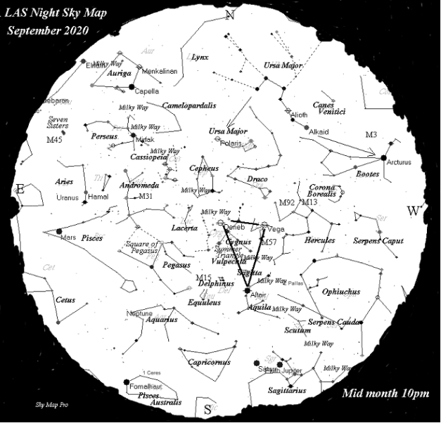 Night Sky Map - Sep 2020