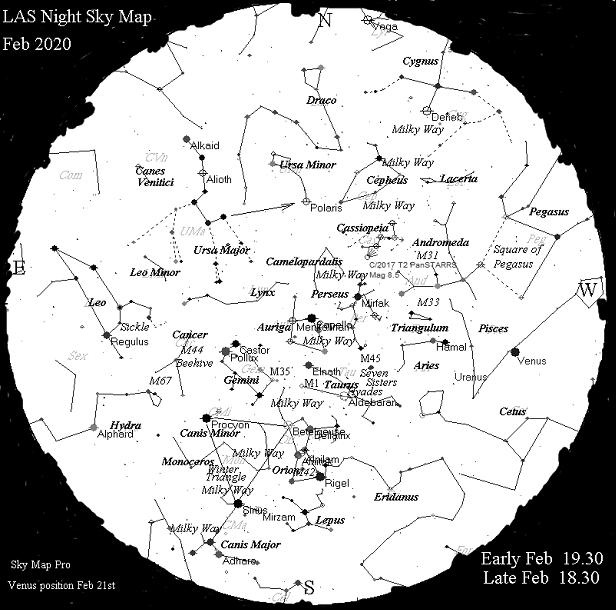 Sky Map Feb 2020