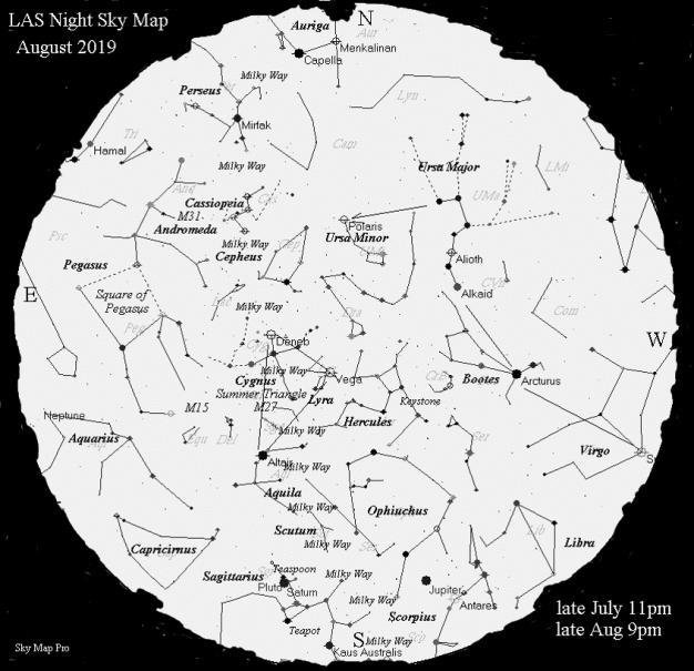 Sky Map - Aug 2019