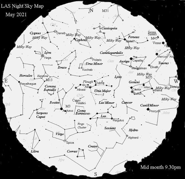 Night Sky Map - May 2021