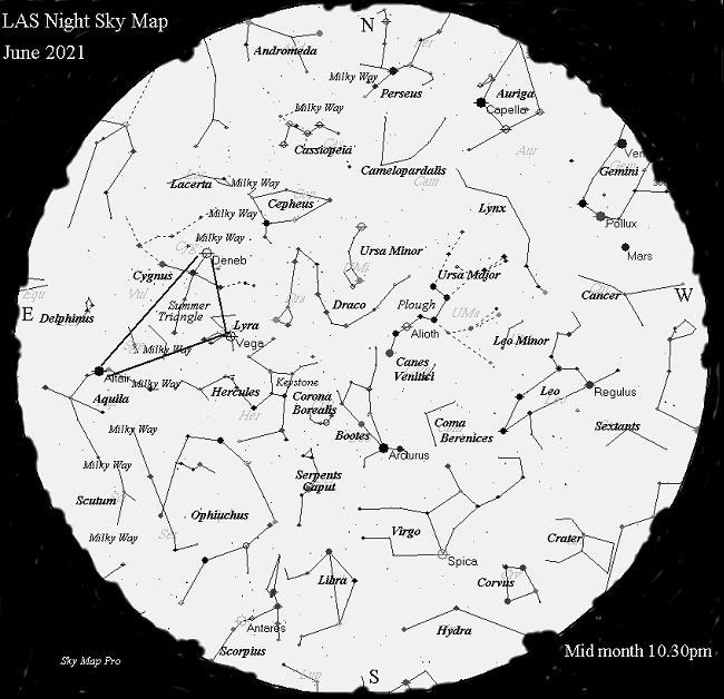 Night Sky Map - June 2021