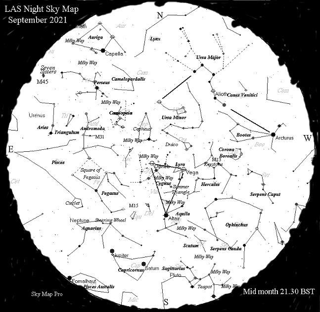 Night Sky Map - Sep 21
